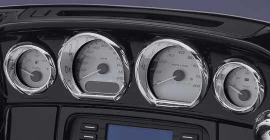 Harley-Davidson Gauge Trim Kit chrome  - 61400451