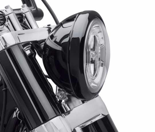 """Harley-Davidson Scheinwerfer Zierring 7"""" schwarz  - 61400573"""