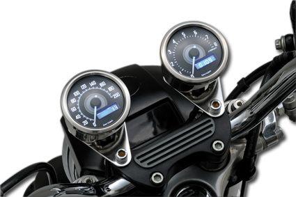 Daytona Japan Velona Drehzahlmesser mit weißer LED poliert (8000 rpm)  - 61-9377