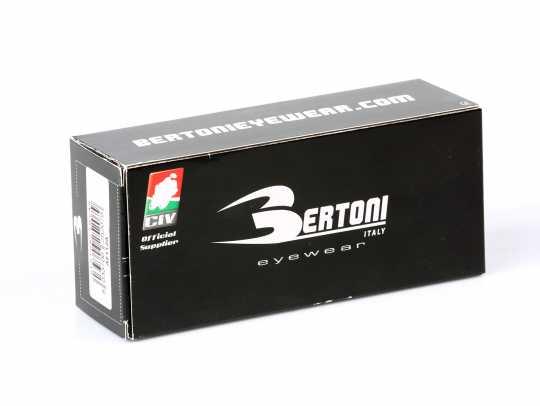 Bertoni Biker Glasses Jet Antifog, black/tinted  - 62-AF112A