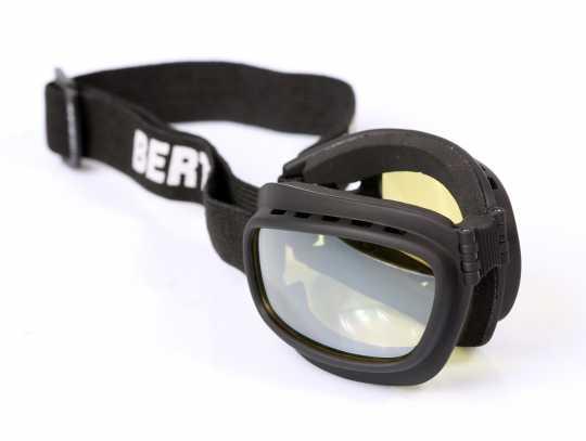 Bertoni Bikerbrille Jet Antifog, schwarz/gelb  - 62-AF112D