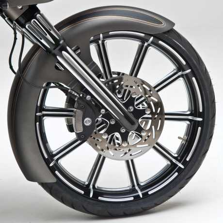 Arlen Ness Arlen Ness Hot Legs Deep Cut  Dual Disc, black  - 65-4172