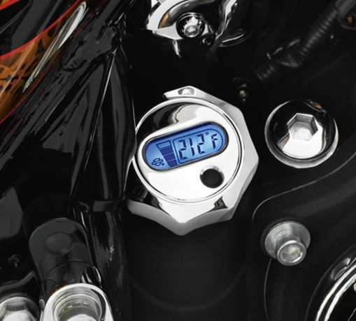 Harley-Davidson Oil Level and Temperature Dipstick with Lighted LCD Readout chrome  - 63004-09A