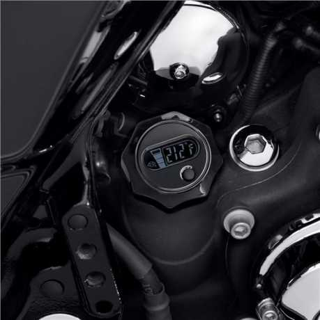 Harley-Davidson Oil Level and Temperature Dipstick with Lighted LCD Readout gloss black  - 63030-09A