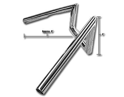 """Jammer Jammer Z-Bars  60s Narrow Style 4"""" chrome  - 63-2328"""