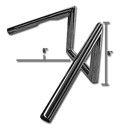 "Jammer Jammer Z Bars 60s Narrow Style 6""  chrome  - 63-2331"