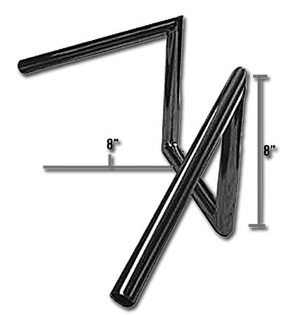"""Jammer Jammer Z-Lenker 8"""" Narrow Style chrome dimpled  - 63-2334"""