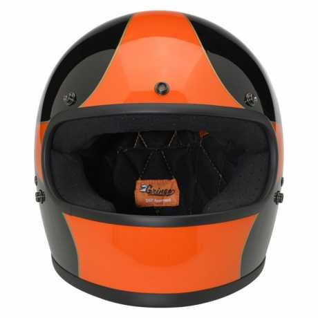 Biltwell Biltwell Gringo Helmet Limited Edition Scallop Gloss Black/Orange DOT  - 64-2823V