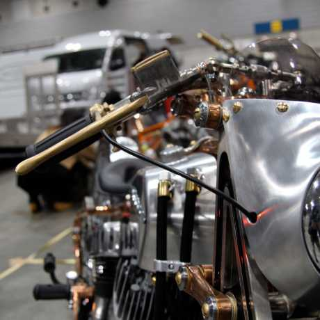 Kustom Tech Kustom-Tech Deluxe Line Master Cylinder 12 mm | Alu / brass raw - 65-2813