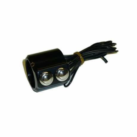 Kustom Tech Kustom Tech Schaltergehäuse 2 Taster schwarz  - 65-2835