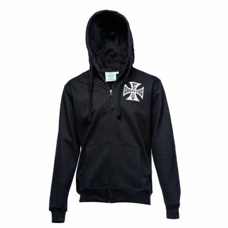 West Coast Choppers West Coast Choppers Iron Cross Zip Hoodie, schwarz  - 65-3363V