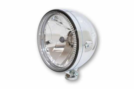 """Highsider Highsider Skyline 5.75"""" LED Headlight chrome, bottom mount  - 65-5810"""