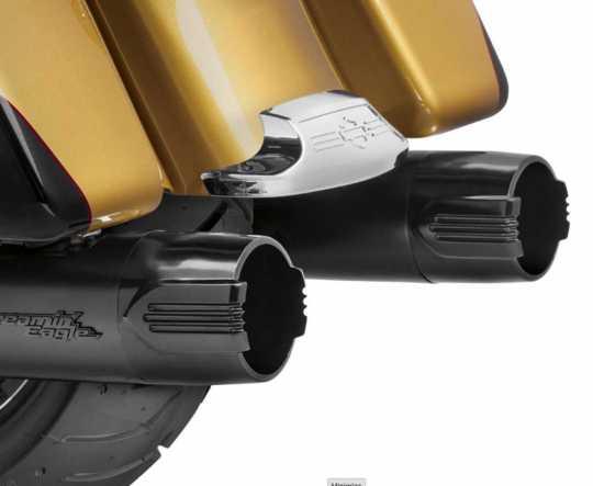 """Harley-Davidson Defiance 4.5"""" End Caps black  - 65100096"""