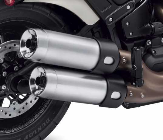 "Harley-Davidson End Caps 4.5"", Brushed Satin Chrome  - 65100123"