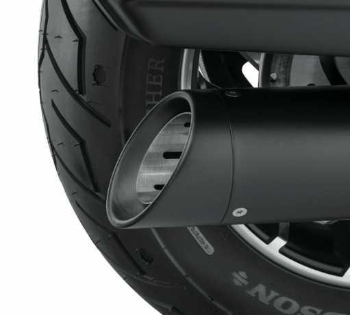 """Harley-Davidson Two-Piece Schalldämpfer Endkappe 4.5"""", schwarz  - 65100161"""