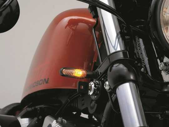 Daytona Japan Daytona D-Light Blinker matt silber mit getöntem Glas  - 65-6207