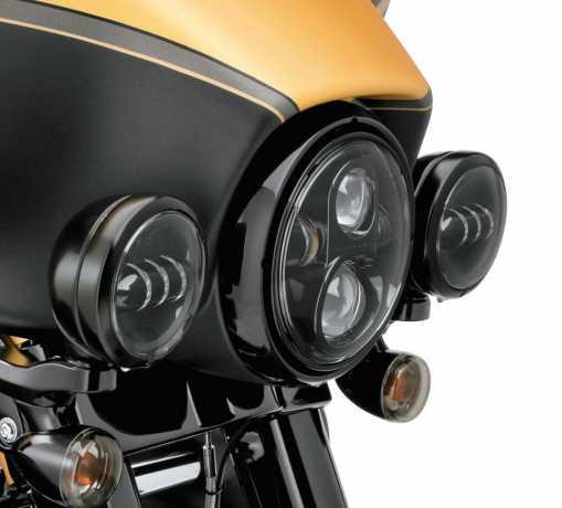 """Harley-Davidson Zierring für 4""""  Zusatzscheinwerfer schwarz  - 67700117"""