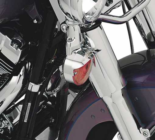 Harley-Davidson Eagle Wing Turn Signal Visors Flat Lens  - 67738-91T
