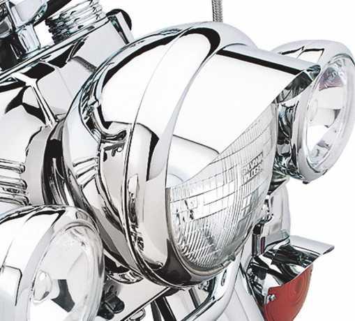 "Harley-Davidson Classic Chrome lamp Visor for 5 3/4"" Headlamp  - 67750-88T"