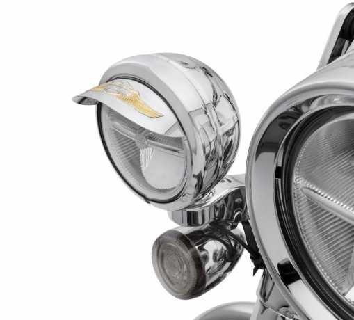 Harley-Davidson Eagle Wing Logo lamp visors for passing lamps  - 67796-91T