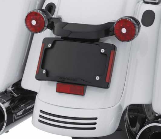 Harley-Davidson Curved License Plate Frame with LED Lighting black  - 67900273