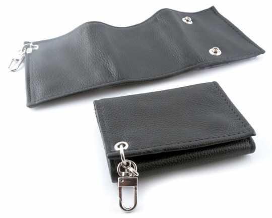 Amigaz Amigaz Trifold Fine Leather Wallet, black  - 68-2530