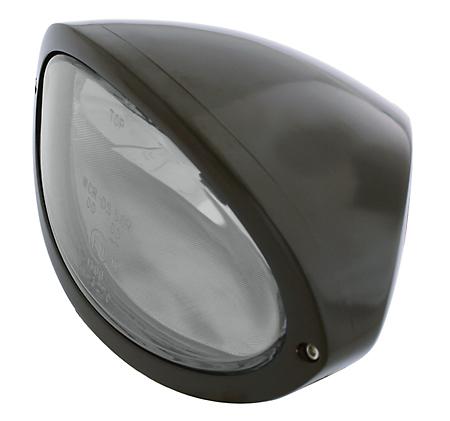 Highsider Highsider Iowa Hauptscheinwerfer schwarz, klar  - 68-4959