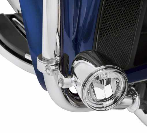 Harley-Davidson LED Nebelscheinwerfer Halter für Motorschützbügel chrom  - 68000170