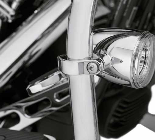 Harley-Davidson LED Nebelscheinwerfer Halter für Motorschützbügel chrom  - 68000171