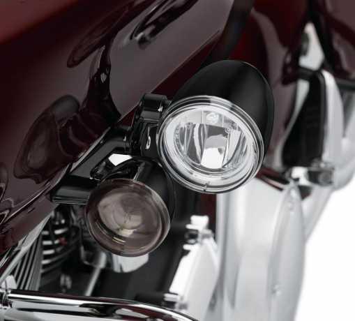Harley-Davidson LED Fog Lamp Mount Kit, gloss black  - 68000184