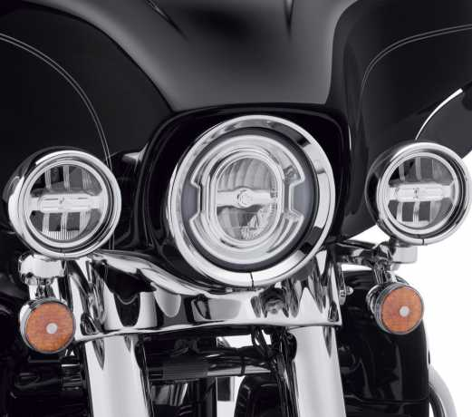"""Harley-Davidson Daymaker 4"""" Signature Reflector LED Auxiliary Lamps chrome  - 68000252"""