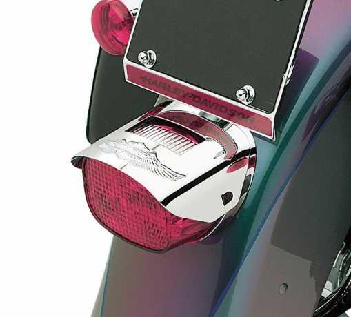 Harley-Davidson Eagle Wing Logo Tail Light Visor Chrome  - 68011-88T