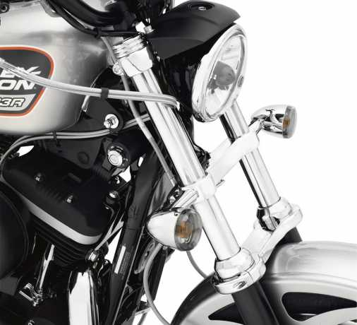 Harley-Davidson Front Directional Relocation Kit chrome  - 68517-94A