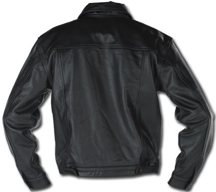 Custom Chrome Leatherjacket Denim Style, black  - 68-5492V