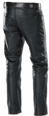 Custom Chrome 5-Pocket Leather Jeans, black  - 68-5520V