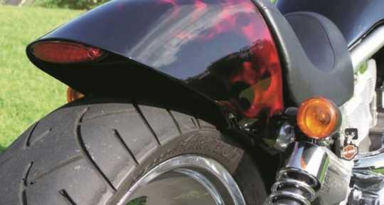 Flywheel Design Flywheel Design Rear turn signal shock-brackets, black wrinkle  - 69-0882