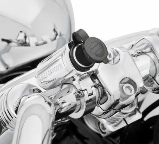 """Harley-Davidson Stromanschluss zur 1,25"""" Lenkermontage chrom  - 69200855"""
