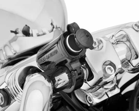Harley-Davidson Handlebar Mount Auxiliary Power Port, black  - 69200970