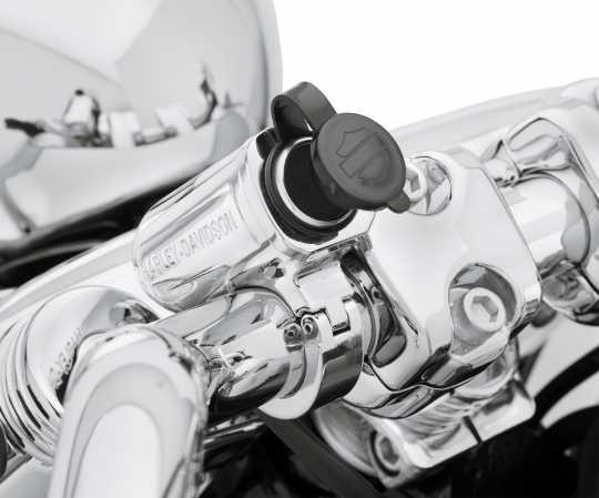 Harley-Davidson Handlebar Mount Auxiliary Power Port chrome  - 69200971