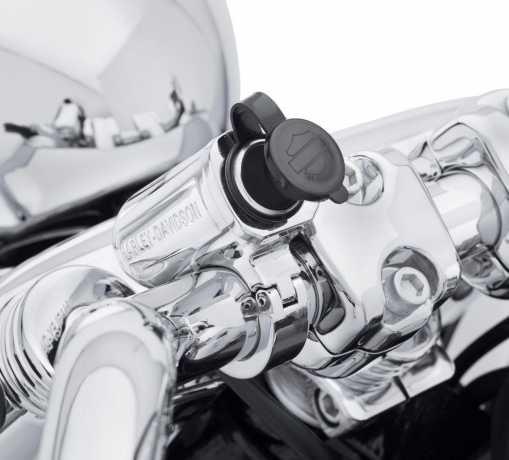 Harley-Davidson Zusätzlicher Stromanschluss am Lenker chrom  - 69200971