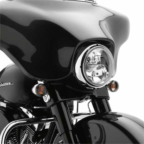 Harley-Davidson Bullet Blinker-Kit Vorn (Chrom / Orange)  - 69492-05