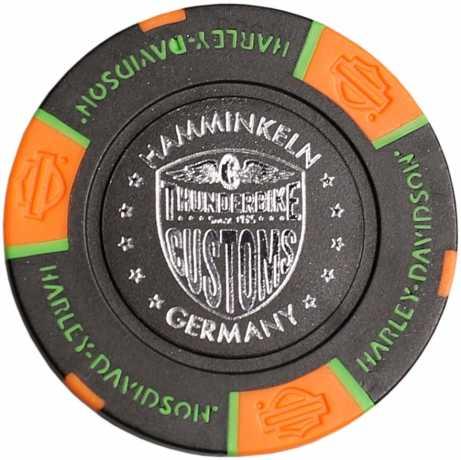 H-D Motorclothes Harley-Davidson Poker Chip schwarz/neon blau/neon orange - 69722