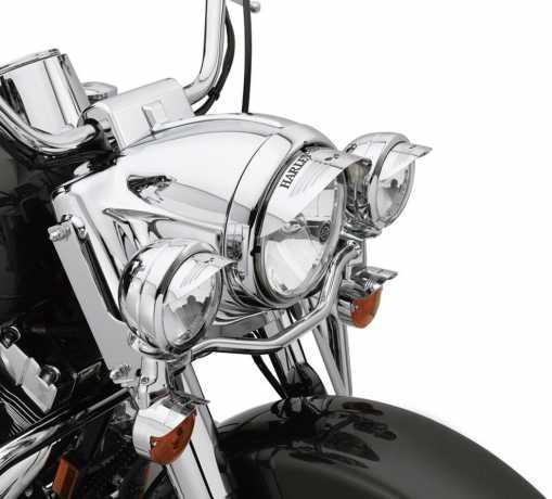 """Harley-Davidson Skull Leuchtenschirm für 7"""" Scheinwerfer  - 69793-07"""