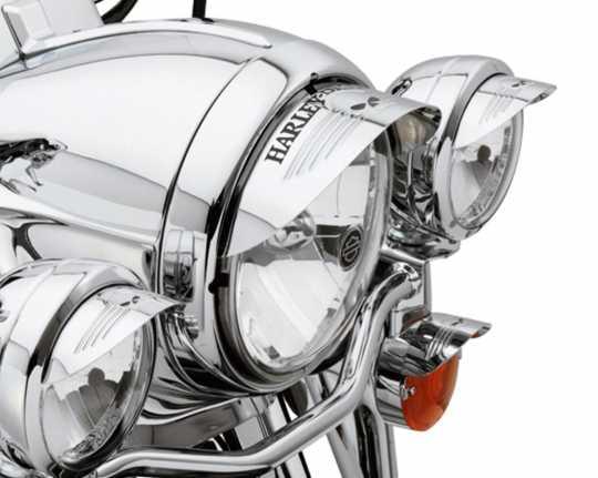 """Harley-Davidson Skull Scheinwerferschieme 5 3/4""""  - 69794-07"""