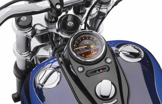 "Harley-Davidson Digitaler 4"" Tacho mit analogem Drehzahlmesser km/h & mph  - 70900100C"