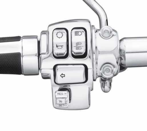 Harley-Davidson Schalterkappen Kit chrom  - 71500441