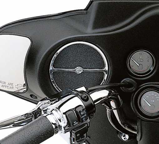 Harley-Davidson Lautsprecher-Verzierung vorn chrom  - 74604-99