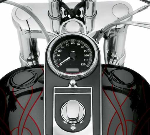 Harley-Davidson Flush mount Fuel Cap & Gauge Kit gloss black  - 75014-06C