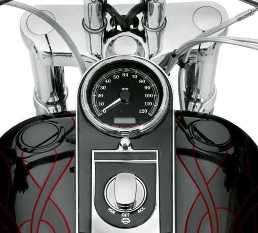 Harley-Davidson Bündiger Tankdeckel & Tankanzeige schwarz  - 75014-06D