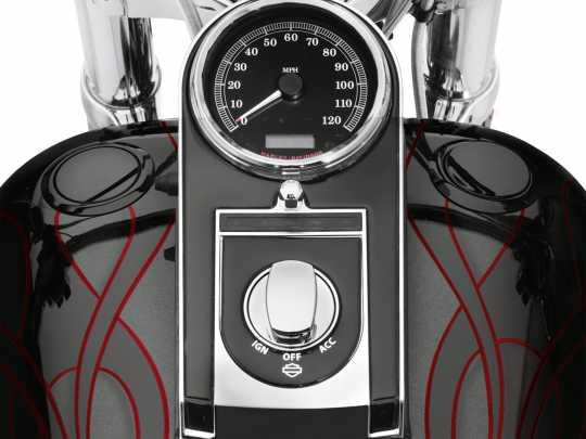 Harley-Davidson Bündiger Tankdeckel & Tankanzeige schwarz  - 75027-08D